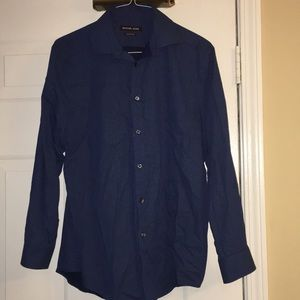 Michael Kors Men Dress Shirt L Large Size 16 32/33